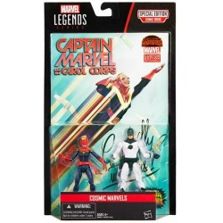 "Marvel Legends Doppelpack Wave 2 Cosmic Marvels (Masked Captain Marvel Carol Danvers & Captain Mar-Vell) 3.75"" (10 cm)"