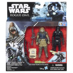 Star Wars Doppelpack Rogue One Actionfiguren Rebel Commando Pao & Imperial Death Trooper (Rogue One) (10 cm)