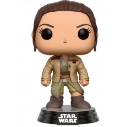 Star Wars Episode VII Funko POP! Vinyl Wackelkopf-Figur Rey in Finn's Jacket (10 cm)