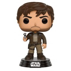 Star Wars Rogue One Funko POP! Vinyl Wackelkopf-Figur Captain Cassian Andor (Brown Jacket) (10 cm)