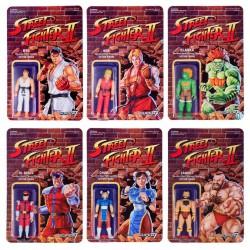 Street Fighter II ReAction Actionfiguren Wave 1 komplett mit 6 Figuren (10 cm)