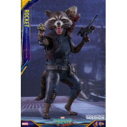 Marvel Hot Toys 1/6 Guardians of the Galaxy Vol. 2 Movie Masterpiece Figur Rocket (16 cm)
