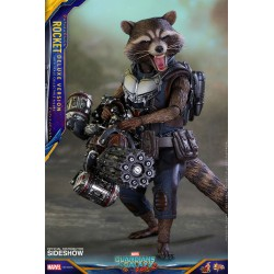 Marvel Hot Toys 1/6 Guardians of the Galaxy Vol. 2 Movie Masterpiece Figur Rocket (Deluxe Veriosn) (16 cm)