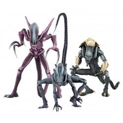 Alien vs Predator Actionfiguren Set 'Alien Arcade Appearance' komplett mit 3 Figuren (22 cm)