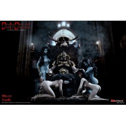Death Dealer (Version 2) 1/6 Super Deluxe Set mit 4 Slave Girls und Thron (30 cm)