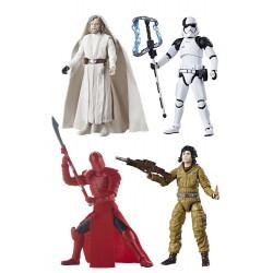 Star Wars Episode VIII Black Series Actionfiguren 2017 Wave 2 komplett mit 4 Figuren (10 cm)
