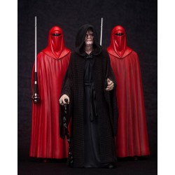 Star Wars ArtFX Statuen 3-Pack 1/10 Emperor Palpatine & The Royal Guards (18 cm)