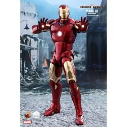 Marvel Hot Toys Iron Man QS Series 1/4 Iron Man Mark III (Deluxe Version) (48 cm)