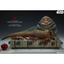 Star Wars Episode VI Sideshow Collectibles 1/6 Actionfigur Jabba the Hutt & Throne Deluxe (34 cm)
