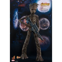 Marvel Hot Toys The Avengers Infinity War Movie Masterpiece Actionfigur 1/6 Groot (30 cm)