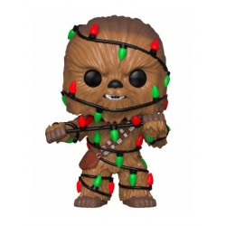 Star Wars POP! Vinyl Wackelkopf-Figur Holiday Chewbacca with Lights (10 cm)