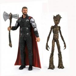 Marvel Select Avengers Infinity War Marvel Select Actionfiguren Thor & Groot (18 cm)