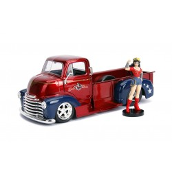 DC Bombshells Diecast Modell Hollywood Rides 1/24 1952 Chevy COE Pickup mit Wonder Woman Figur