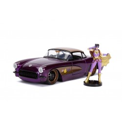 DC Bombshells Diecast Modell Hollywood Rides 1/24 1957 Chevy Corvette mit Batgirl Figur