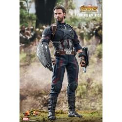 Marvel Hot Toys The Avengers Infinity War Movie Masterpiece Actionfigur 1/6 Captain America (31 cm)