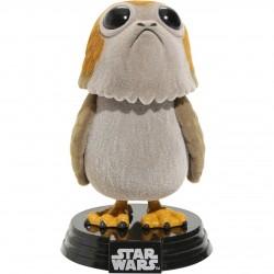 Star Wars Episode VIII POP! Vinyl Wackelkopf-Figur Porg (Flocked) (10 cm)