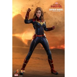 Marvel Captain Marvel Hot Toys Movie Masterpiece Actionfigur 1/6 Captain Marvel (29 cm)