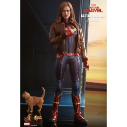 Marvel Captain Marvel Hot Toys Movie Masterpiece Actionfigur 1/6 Captain Marvel (Deluxe Version) (29 cm)