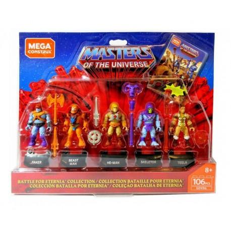 Masters of the Universe Mega Construx Probuilder Actionfiguren 5er-Pack Battle for Eternia