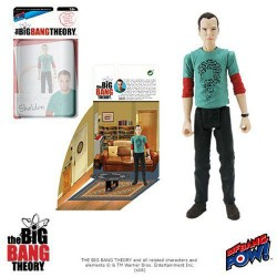 The Big Bang Theory Actionfigur mit Diorama Set Sheldon Riddler Shirt (10 cm)