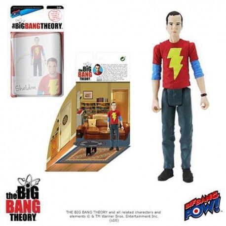 The Big Bang Theory Actionfigur mit Diorama Set Sheldon Shazam Shirt (10 cm)