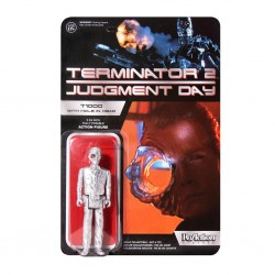 Terminator 2 ReAction Actionfigur T1000 Officer with Hole In The Head (Exclusive) (10 cm)