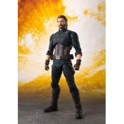 Marvel Avengers Infinity War S.H. Figuarts Actionfigur Captain America & Tamashii Effect Explosion (16 cm)