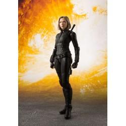 Marvel Avengers Infinity War S.H. Figuarts Actionfigur Black Widow & Tamashii Effect Explosion (16 cm)