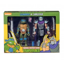 Teenage Mutant Ninja Turtles Actionfiguren Doppelpack Leonardo vs Shredder (18 cm)