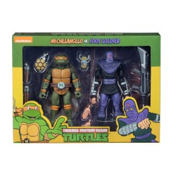 Teenage Mutant Ninja Turtles Actionfiguren Doppelpack Michelangelo vs Foot Soldier (18 cm)