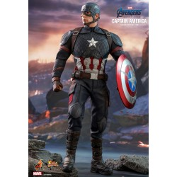 Marvel Hot Toys Avengers: Endgame Movie Masterpiece Actionfigur 1/6 Captain America (31 cm)
