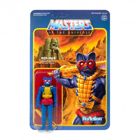 Masters of the Universe ReAction Actionfigur Mer-Man (Carry Case Color) (Exclusive) (10 cm)