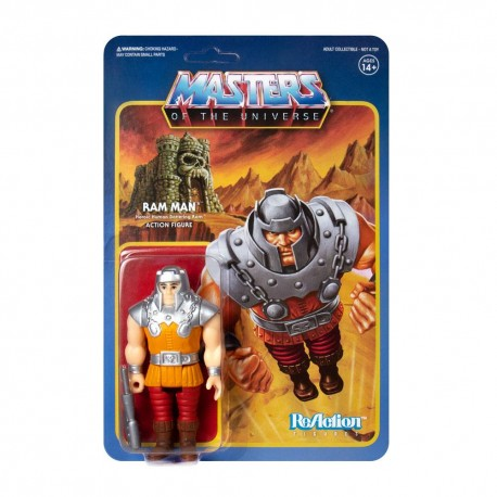 Masters of the Universe ReAction Actionfigur Ram Man (Mini Comic Version) (Exclusive) (10 cm)
