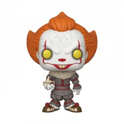 Stephen Kings ES 2 Super Sized POP! Movies Vinyl Figur Pennywise with Boat (25 cm)