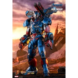 Marvel Hot Toys Avengers: Endgame Movie Masterpiece Series Diecast Actionfigur 1/6 Iron Patriot (32 cm)