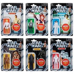 Star Wars The Retro Collection Wave 1 komplettes Set mit 6 Actionfiguren (10 cm)