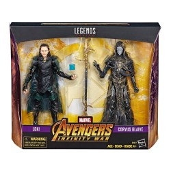 """Marvel Legends Doppelpack 'Avengers: Infinity War' Corvus Glaive & Loki 6"""" (15 cm)"""