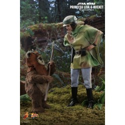 Star Wars Episode VI Movie Masterpiece Actionfiguren Doppelpack 1/6 Princess Leia & Wicket (27 cm & 15 cm)