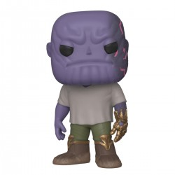 Marvel Avengers Endgame POP! Movies Vinyl Figur Casual Thanos with Gauntlet (10 cm)