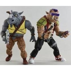 Teenage Mutant Ninja Turtles Actionfiguren Doppelpack Rocksteady & Bebop (18 cm)