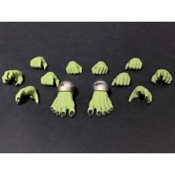 Mythic Legions 'Arethyr' Actionfiguren Zubehör-Set Green Skin Hands & Feet