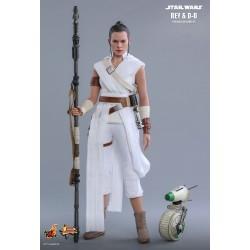 Star Wars Episode IX Hot Toys Movie Masterpiece Actionfiguren Doppelpack 1/6 Rey & D-O (28 cm)