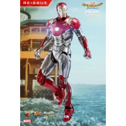 Marvel Hot Toys 1/6 Spider-Man Homecoming Movie Masterpiece Diecast Actionfigur Iron Man Mark XLVII (32 cm) (Reissue)
