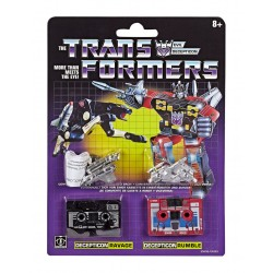 Transformers Reissue Actionfiguren Doppelpack Vintage G1 Ravage & Rumble