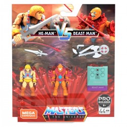 Masters of the Universe Mega Construx Actionfiguren Doppelpack He-Man Vs Beast Man
