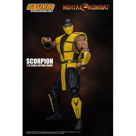 Mortal Kombat Actionfigur 1/12 Scorpion (16 cm)