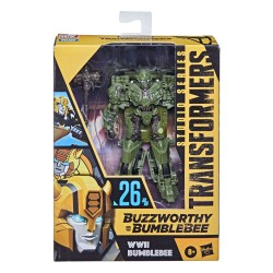 Transformers Buzzworthy Bumblebee Studio Series Deluxe Class Actionfigur WWII Bumblebee (Transformers: The Last Knight) (11 cm)
