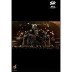 Star Wars The Mandalorian Actionfigur 1/6 Boba Fett (Repaint Armor) and Throne (30 cm)