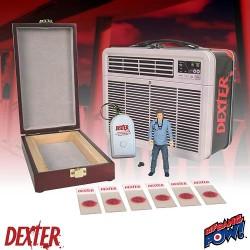 """Dexter Lunchbox mit 3.75"""" (10cm) Dexter Actionfigur mit Holzbox Replica (SDCC 2015 Exclusive Set)"""
