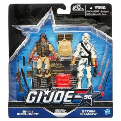 "G.I. Joe 50th Anniversary 'Classic Clash' Doppelpack mit Spirit Iron-Knife & Storm Shadow 3.75"" (10 cm)"